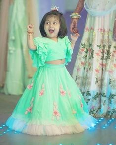 Call or whatsapp 8288944518 to order this beautiful Little lehanga Customizations available.I need to purchase this baby lehenga. Girls Frock Design, Baby Dress Design, Kids Frocks Design, Baby Frocks Designs, Kids Party Wear Dresses, Kids Dress Wear, Kids Gown, Little Girl Dresses, Baby Dresses