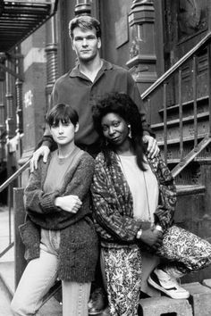 "Ghost cast - ""Ghost"" (1990) - Patrick Swayze, Demi Moore and Whoopi Goldberg, who won a Best Supporting Actress Oscar in this role."