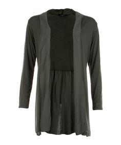 Basic Viscose Cardigan Grey - Jenterommet Tunic Tops, Grey, Sweaters, Black, Women, Fashion, Gray, Moda, Black People