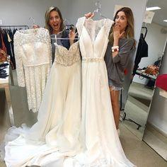 Chegaram vestidos de noiva NOVOS! 600 reais os longos e 350 o curto de renda! Obrigada @noivanasnuvens  @bazarser.tao