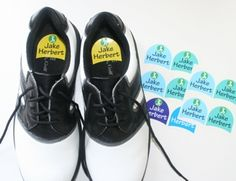 Shoe labels for school shoes and sports shoes available from online store www.kidslabels.co.za