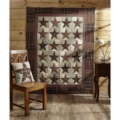 Abilene Star Quilted Throw and Pillow Cover Set