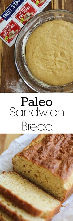 Paleo Sandwich Bread - made with almond flour and tapioca flour   TheRoastedRoot.net #glutenfree #lunch #recipe
