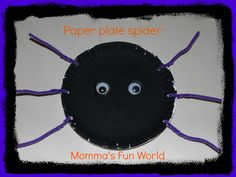 Momma's Fun World: Paper plate spider