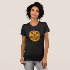 #Creepy Halloween Pumpkin T-Shirt - #Halloween happy halloween #festival #party #holiday