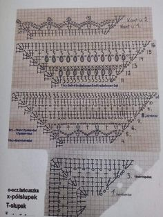 Crochet Motif Patterns, Shawl Patterns, Crochet Diagram, Crochet Chart, Crochet Stitches, Knitted Shawls, Crochet Scarves, Romanian Lace, Crochet Snowflakes