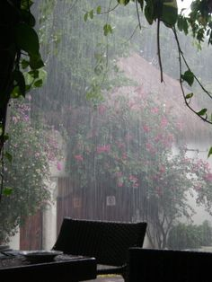 Stuck in the rain in Playa Del Carmen -- oh how sad. Rain Pictures, Smell Of Rain, I Love Rain, Morning Rain, Rain Photography, White Photography, Rain Days, Angel Aesthetic, Rain Storm