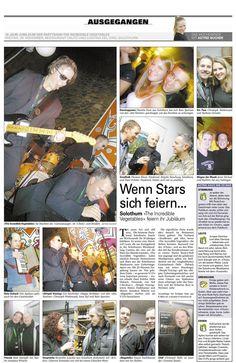 """Die Schweizer Partyband """"The Incredible Vegetables"""" aus Solothurn, die ich 1993 co-gegründet und bei der ich 18 Jahre spielte...Cooler Bericht in der Solothurner Zeitung zum 10-Jahre-Jubiläum 2003 www.alleinunterhalter-coolcat.ch"""
