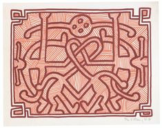 KEITH HARING (1958-1990) Keith Allen, Keith Haring Art, Modern Pop Art, Artist Names, American Artists, Contemporary Artists, Buddha, Graffiti, Street Art