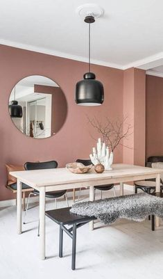 The most beautiful interior with Dusty Pink walls, .- The most beautiful interior with Dusty Pink walls, beautiful Source by - Living Room Paint, Interior Design Living Room, Living Room Decor, Dining Room, Kitchen Interior, Color Interior, Design Interior, Brown Interior, Interior Painting