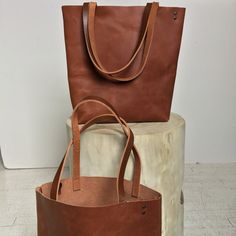 Braun Leder Tote Bag braun Ledertasche großen braun von sord