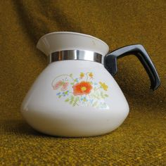 1960s Corningware Teapot  Wildflower by BigfootCountryTrader