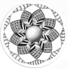 Zendala challenge | Cris Letourneau / Tangled Up In Art via Flickr