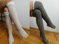 CROCHET PATTERN Knee Socks Over the knee socks Knee by Beatifico