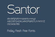 Santor - Friday Fresh Free Fonts