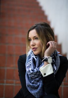 What Katie wore: suit up  | Katie Cassidy  Style Scarf