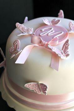 Christening butterfly cake