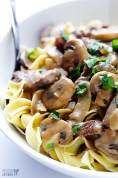 Beef Stroganoff | Try this recipe for some quick and easy comfort food that doesn't have a million calories.