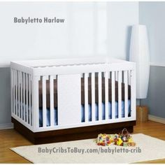 Babyletto Harlow Crib in white. Only $399 for a limited time only.