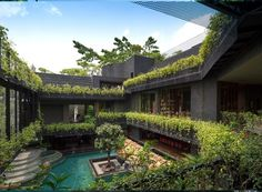 Explore the Best Attractive and Luxury Sky Garden House Architecture at The Architecture Design. Visit for more images and ideas about Sky Garden house. Villa Architecture, Green Architecture, Sky Garden, Home And Garden, Balcony Garden, Corner Garden, Dream Garden, Herb Garden, Casa Cook Hotel
