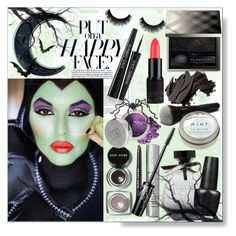 """""""Halloween Make Up """"Put on a Happy Face"""" Green"""" by calamity-jane-always ❤ liked on Polyvore featuring beauty, American Eagle Outfitters, CB2, Bobbi Brown Cosmetics, Burberry, OPI, Dolce&Gabbana, Mineral Essence, Pier 1 Imports and Halloween"""