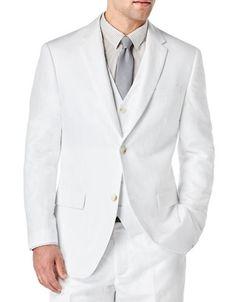 La Baie | Men | Suits & Tuxedos | Solid Linen-Cotton Jacket | Hudson's Bay