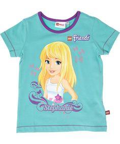 LEGO Friends green summer t-shirt with Stephanie #emilea