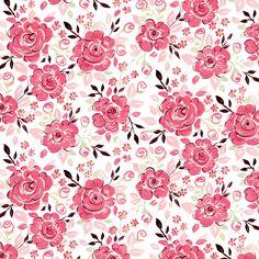 Valentine's Day Inspiration: Tea Garden Collection - Darjeeling in Fuchsia by Dena™ Designs
