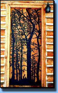 Metal Art Silhouette Door Coverings Cottonwood