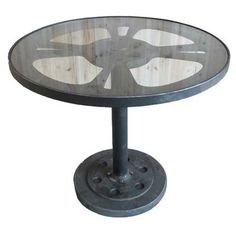 Moe's Home Collection Rotella Bistro Table in Dark Brown