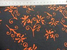 Batik patchworkstof sort-rød 6 - flot patchwork stof i metermål fra HANNES patchwork
