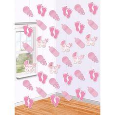 Visiace dekorácie Baby Girl Decoracion Baby Shower Niña, Baby Shower Niño, Color Rosa, Kids Rugs, Curtains, Prints, Home Decor, Hanging Decorations, Decorative Accents