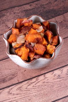 Use GF bacon! Diced Sweet Potatoes with Onion and Bacon - Bravo For Paleo
