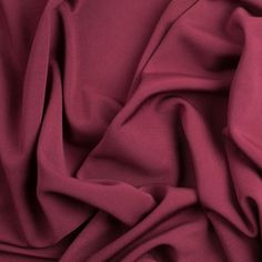 Beet Red Solid Viscose Jersey Fabric by the Yard | Mood Fabrics