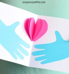 Fathers Day Crafts - Cards, Art and Craft Ideas for Kids to Make - Easy Peasy and Fun Easy Mother's Day Crafts, Easy Fathers Day Craft, Mothers Day Crafts For Kids, Spring Crafts For Kids, Crafts For Kids To Make, Mothers Day Cards, Paper Flower Wreaths, Fun Projects For Kids, Arts And Crafts