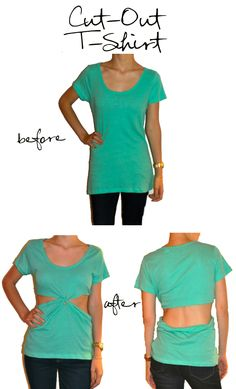 Cut-Out T-shirt How To.