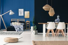 navy accent walls paint home remodeling trends