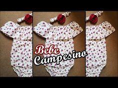 vestido campesino para bebe /pañalero campesino - YouTube