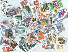 100 Postage Stamps Scrapbooking collage altered art