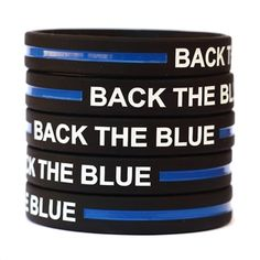 Show your support for police officers with one of these silicone wristbands! One size fits all.