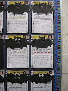 """i've gone BATTY over this book!""   Third Grade Thinkers: Seasonal Reading Response Sheets and Crafts for Fall"