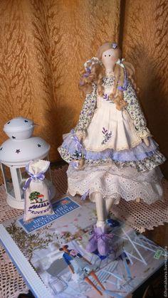 Купить Лавандовая фея Мишель. - бледно-сиреневый, кукла ручной работы, интерьерная кукла