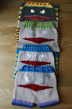 Ravelry: Das Monster pattern. Damn I need to learn how to knit, these are to freakin cute!