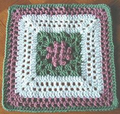 Canadian Spring Free Crochet Square Pattern 12 Inch