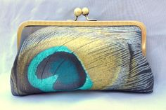 Purely Peacock Clutch- (Golden-Yellow) Wedding Clutch   Formal Clutch (Choose Your Colors) on Etsy, $50.00