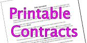Printable Contracts - from selling a car to obtaining a DJ for an event there is a free printable contract available www.printablecontracts.com
