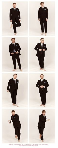 Martin Freeman, ladies and gentlemen... The clothes are flawless, the hair is sexy, the bare feet are so erotic!
