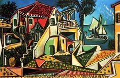 1952 Pablo Picasso - Mediterranean Landscape #art