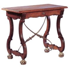 Portuguese Table / Desk   From a unique collection of antique and modern side tables at https://www.1stdibs.com/furniture/tables/side-tables/