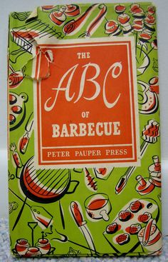 Vintage ABC's of Barbecue Peter Pauper Press 1957 by RSWVintage, $10.00